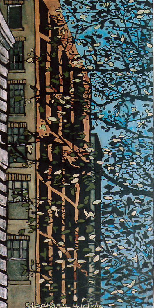 New York, October, 36 x 18, acrylic and marker on canvas