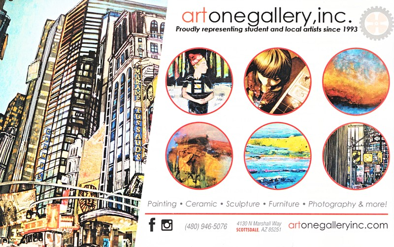 Art One Gallery ad, Phoenix Home & Garden 2016 Top Design Sources Special Issue