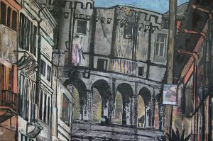 The Colosseum from Via di San Giovanni in Laterano Detail 1.jpg
